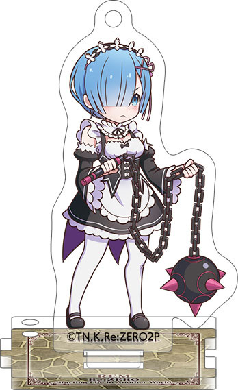 main photo of Re:ZERO -Starting Life in Another World- Acrylic Keychain w/Stand Collection: Rem