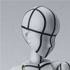 S.H.Figuarts Body-chan -Wire Frame- (Gray Color Ver.)