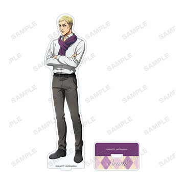main photo of Attack on Titan New Illustration Muffler ver. BIG Acrylic Stand: Erwin