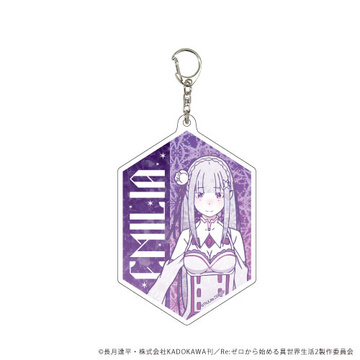 main photo of Re:ZERO -Starting Life in Another World- Acrylic Keychain: Emilia